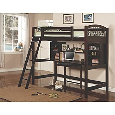 Coaster Home Furnishings 460063 Transitional Bunk Bed, Cappuccino
