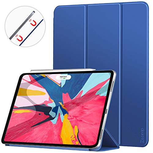 Ztotop iPad Pro 11 Case 2018,Strong Magnetic Ultra Slim Minimalist Smart Case with Auto Sleep/Wake,Trifold Stand Cover for Apple iPad Pro 11 Inch 2018,Blue