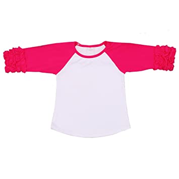 194326e5 Amazon.com: Kaiya Angel Toddler/Little Girl's Icing Ruffle Shirts ...