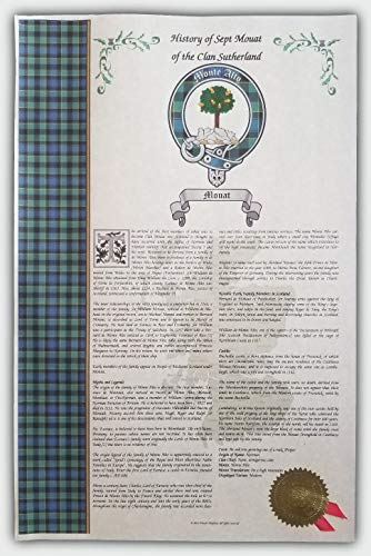 Kearen Scottish Clan & Sept Print, Last Name History, Tartan, Buckle & Crest from Mr Sweets