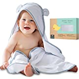 Premium Baby Hooded Towel and Washcloth Set - Extra Soft | Organic Baby Towels with Hood | Extra Large, 2x Thick Baby Bath Towels | Bamboo Hooded Baby Towel for Boy, Girl, Newborn, Infant and Toddler