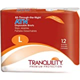 """Tranquility ATN™ Adult Disposable Briefs with All-Through-The-Night Protection, L (45""""-58"""") - 12 ct"""