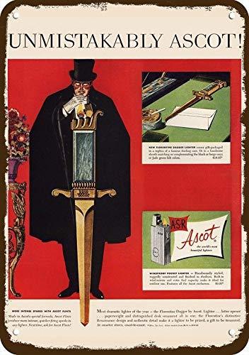 Yilooom 1952 Ascot Florentine Dagger Vintage-Look Replica Metal Sign 7
