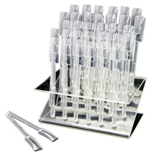 New Authentic Design Display Stand Sticks 32 Nail Art Practice Clear Acrylic Tool Set Beauties Factory CODE: #275