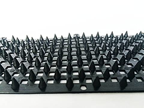 Black Bird Spike Kit Plastic Bird Spike Defender Size:300×80mm, Spike Height 5mm,Pack Of 10. (Scat Cat Repellent)