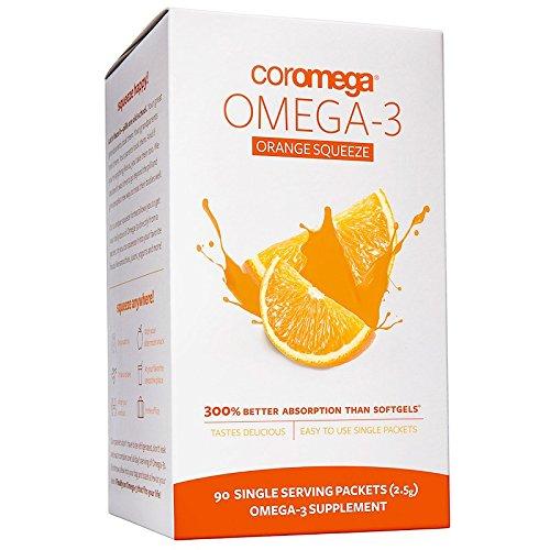 Coromega Omega 3 Supplement- Orange Coromega Omega 3 Supplement Packets Orange