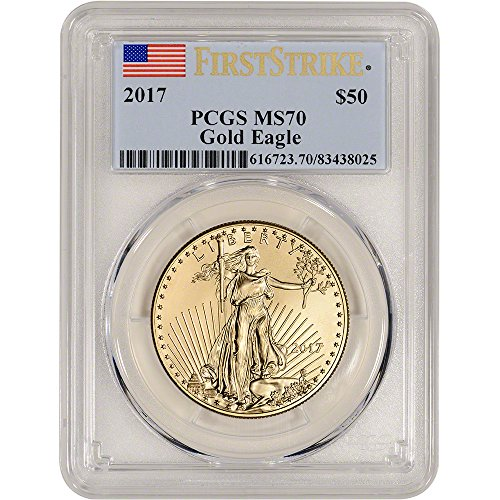 Certified Gold Coin - 2017 American Gold Eagle (1 oz) First Strike $50 MS70 PCGS
