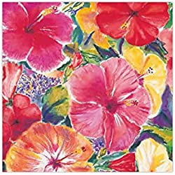 4 Packs Cocktail Beverage Paper Party Napkins Hawaiian Hibiscus Impressions