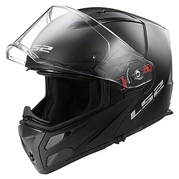LS2 ff324 Metro con tapa frontal para casco de moto negro mate + Casco Care Kit