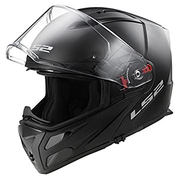 Moto LS2 ff324 Metro con tapa frontal para moto Modular Negro Mate Casco + Kit de