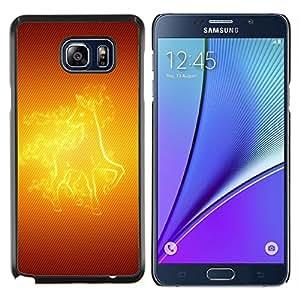 LECELL--Funda protectora / Cubierta / Piel For Samsung Galaxy Note 5 5th N9200 -- Caballo del fuego --
