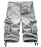 DONSON Mens Camo Multi-Pocket Cargo Shorts Casual Loose Fit Shorts Cotton