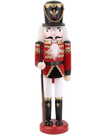 dabbie cascanueces músico soldado muñeca de madera 30 cm de alto adorno de decoración para el