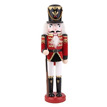 Arpoador 30 Cm Tall Wooden Soldier Nutcracker On Stand Nutcracker Soldier 30cm