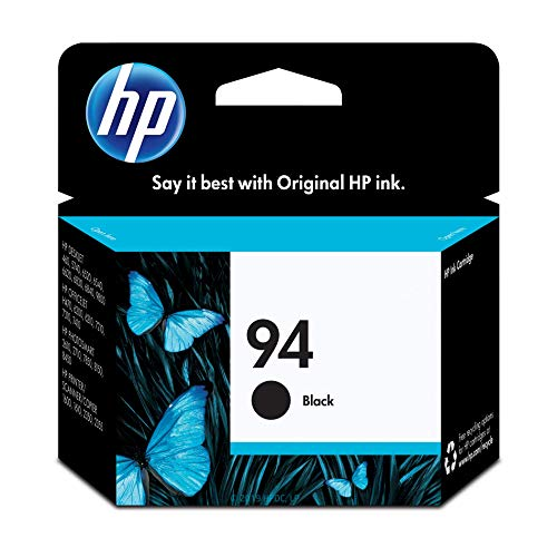 HP 94 Black Ink Cartridge (C8765WN) for HP Deskjet 460 6830 6840 6988 8150 8450 9800 HP Officejet 150 H470 7210 7310 7410 J6480 HP PSC 1510 1610 2355 HP Photosmart 2575 8750 B8350 (Cartridges Printer Hp Ink 2610)