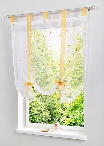 Uphome Adorable Bowknot Embroidered Curtain