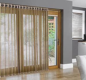 Bamboo Grommet Top Panels For Sliding Glass Doors And Large Windows Natural 48x84