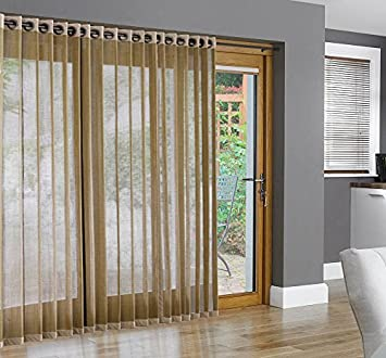 Bamboo Grommet Top Panels For Sliding Glass Doors And Large Windows Natural  48x63