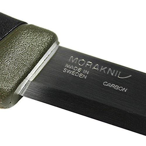 Morakniv 11863 Companion Fixed Blade Outdoor Knife with Carbon Steel Blade, 4.1-Inch, Military Green