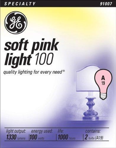 GE Lighting 97484 100-Watt 1330-Lumen Light Bulb, Pink, 2-Pack (PACK OF 12) by G.E. Lighting