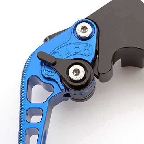 style sportif Yamaha TDM 850,XJ 900//600 S DIVERSION Levier bleu avec ajusteur noir texture 3D FXCNC Levier dembrayage et de frein r/églable pour moto en aluminium