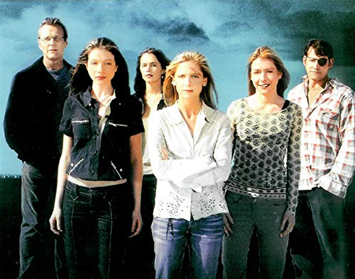 Buffy the Vampire Slayer cast standing together against stormy background 8 x 10 Inch Photo LTD 10