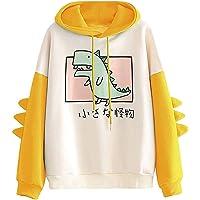 RUNYN Sudadera con capucha para mujer, estilo japonés, kawaii, caricatura, sudadera con capucha para otoño e invierno…