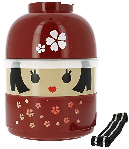 JapanBargain Japanese Sakura Girl Lunch Bento Box