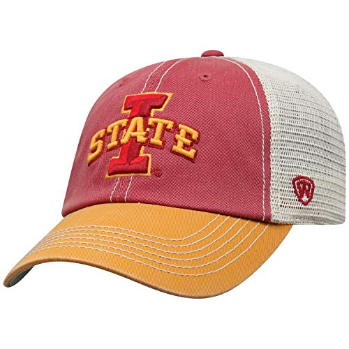 Top of the World Iowa State Cyclones Men's Mesh-Back Hat Icon, Garnet, Adjustable