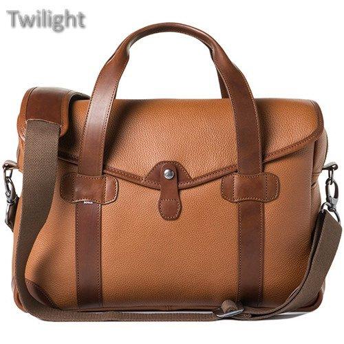 Barber Shop Medium Messenger Bob Cut Borsa Camera Bag (Grained Leather, Brown) (Bag Grained Leather)