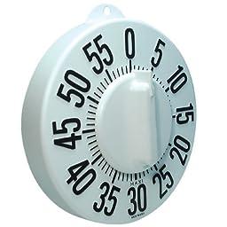 Tactile Long Ring Low Vision Timer - White Dial