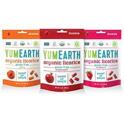 YumEarth Gluten Free Licorice Variety Pack, 6 Count