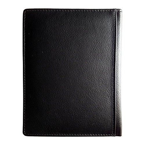 AurDo RFID Blocking Real Leather Passport Holder Cover Case & Travel Wallet for Men & Women