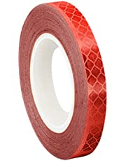 3M 3432 Red Micro Prismatic Sheeting Reflective Tape – 0.5 in. X 15 ft. Non Metalized Adhesive Tape Roll. Safety Tape