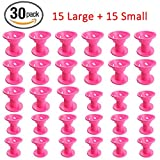 Hair Care Rollers Hair Curlers Silicone No Clip Hair Style Rollers Soft Magic DIY Curling Hairstyle Tools Hair Accessories Pink 30 PCS