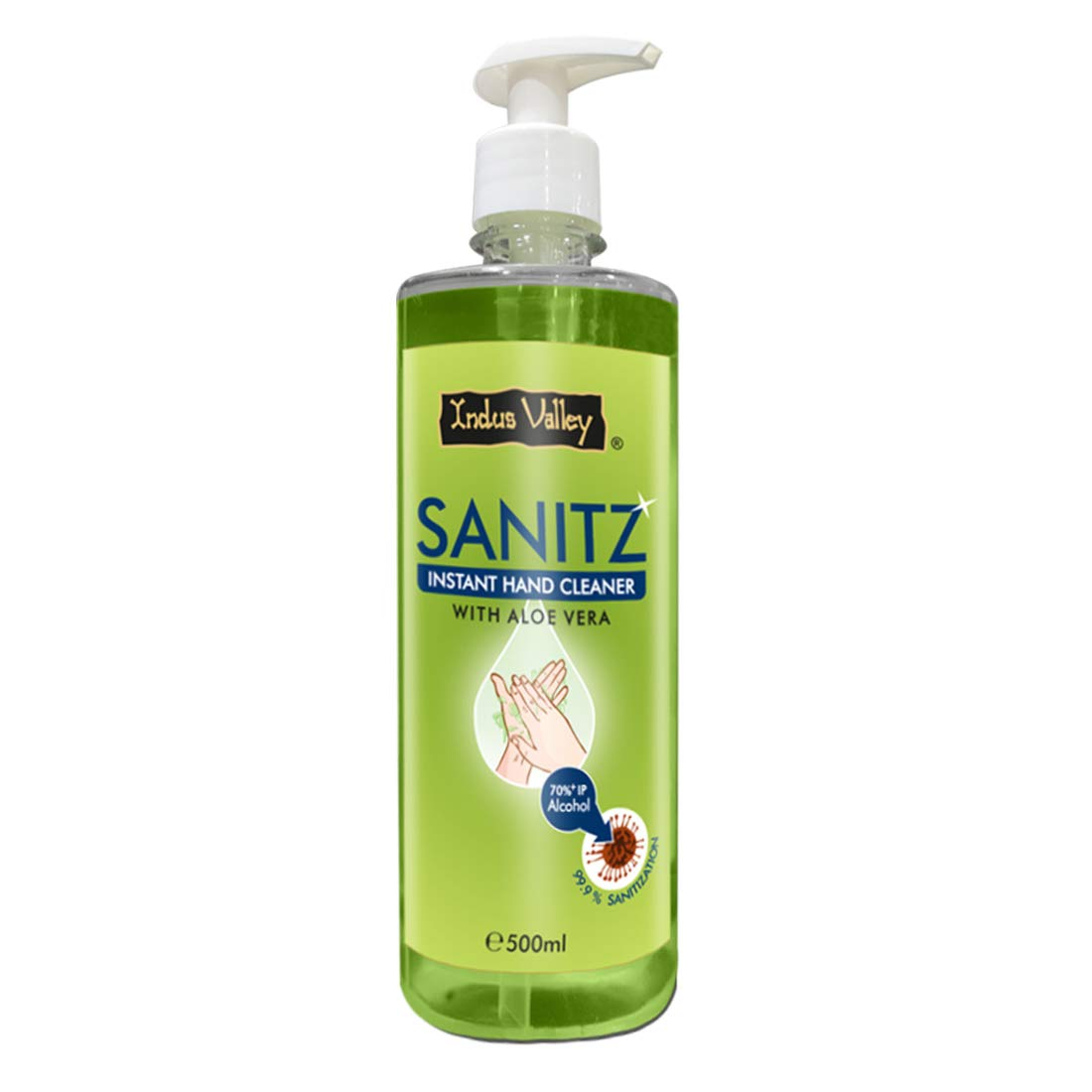 Indus Valley Sanitz Instant Hand Cleaner with Aloe Vera -  500ml