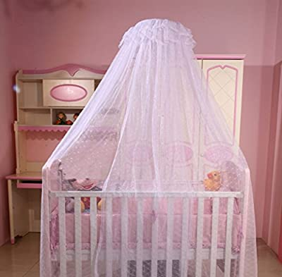 RuiHome Princess Dome Baby Mosquito Net Nursery Crib Bed Canopy Mesh Insect Netting