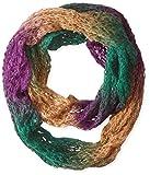 La Fiorentina Women's Space-Dye Infinity Muffler Scarf, Brown/Plum, One Size