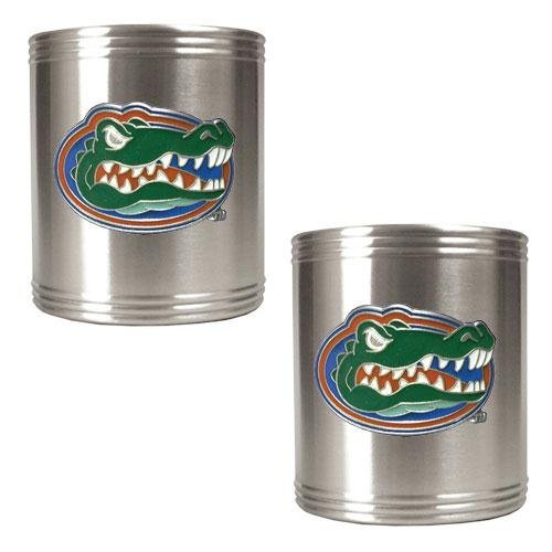 (NCAA Florida Gators Two Piece Stainless Steel Can Holder Set)