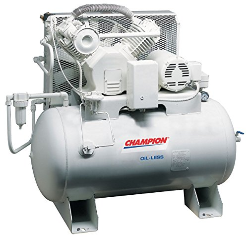Champion Spark Plugs - CHSMOA22 - 1 Phase Horizontal Tank Mounted 5HP Electric Air Compressor, 60 gal., 100 psi