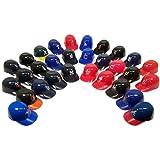 MLB Logo Official MLB 8oz Mini Baseball Helmet Ice Cream Snack Bowls (30) by Rawlings
