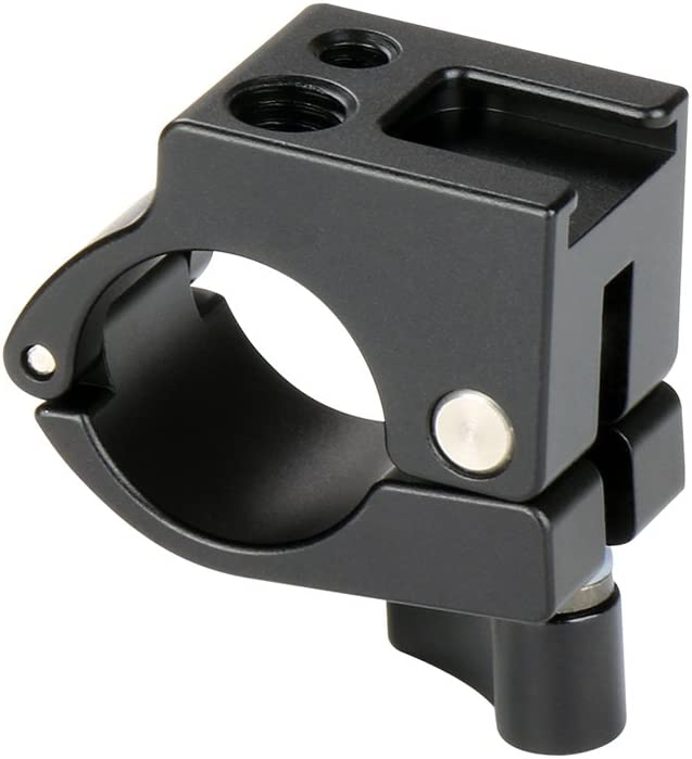 Almencla 22mm Rod Clamp Pipe Clip W//Cold Shoe Mount for DJI Ronin-M Freefly MoVI Rig