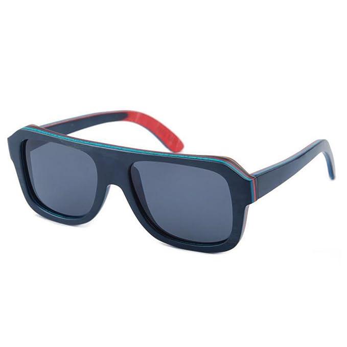 El Color De Múltiples Capas Monopatines Madera Gafas De Sol ...