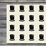 Top Hat Top-Hat Tophat Craft Stickers, 44 Stickers at 1.5 inches, Great Shapes for Scrapbook, Party, Seals, DIY Projects, Item 156165