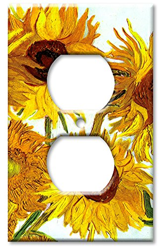 Art Plates - Van Gogh: Sunflowers Switch Plate - Outlet Cover - Light Switch Outlet Cover Art