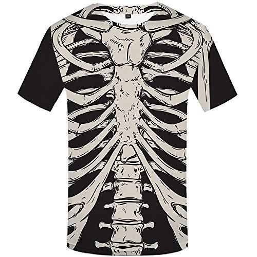 KYKU Skeleton Tshirt Funny T Shirts for Men 3D Tshirts Halloween for Boy (Large)]()