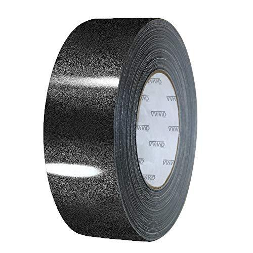 VViViD High Gloss Black Sparkle Metallic Air-Release Vinyl Adhesive Tape Roll (2