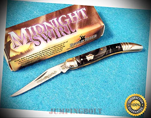 RR962 BABY TOOTHPICK Midnight Swirl pocket knife 3'' closed - Knife for Bushcraft EMT EDC Camping Hunting