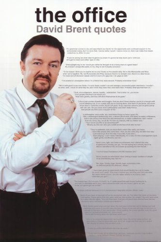 The Office - UK Poster TV Ricky Gervais Martin Freeman Mackenzie Crook Lucy Davis