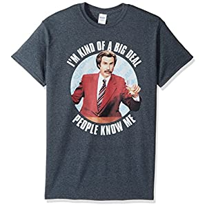 Bon Jovi Men's I'm Kind of a Big Deal. People Know Me T-Shirt, Dark Heather, L